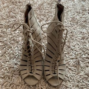 Steve Madden lace up heels size 6.5